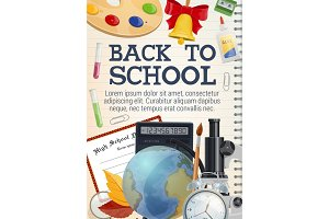 Back to school stationery, copybook