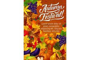 Autumn harvest season poster