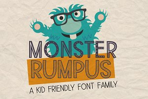 New!! Monster Rumpus Font
