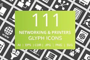 111 Networking & Printers Glyph Icon