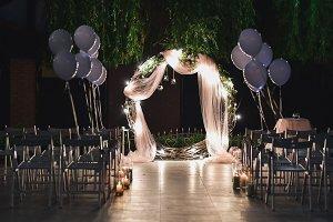 Shine wedding altar for newlyweds
