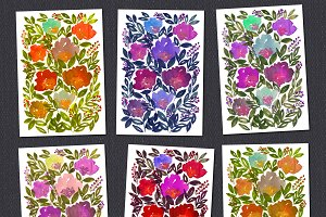 Hand painted flowers
