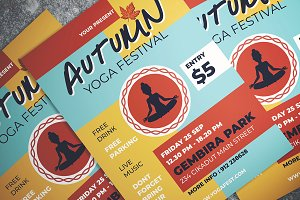 Autumn Yoga Fest Flyer