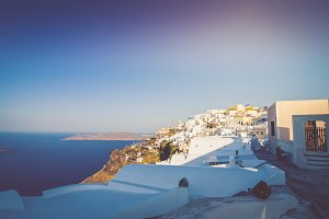 The beautiful white village of Fira