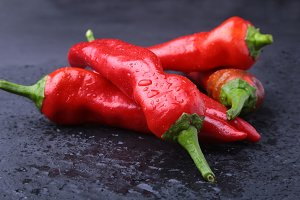 Red Chili pepper Fresh Organic Herb