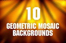 Geometric Mosaic Backgrounds Pack 1