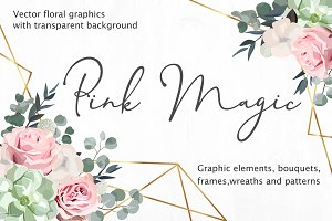 Floral Design Set - Pink Magic