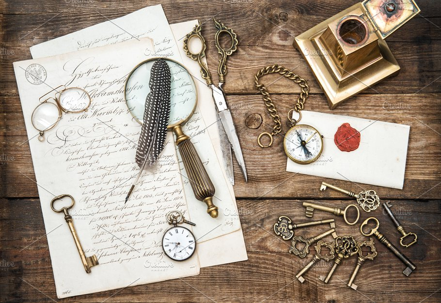Antique Office Supplies And Keys Business