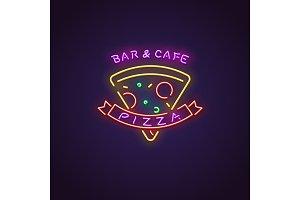 Pizza neon banner