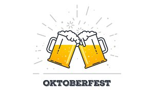 Oktoberfest glasses of beer