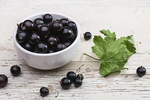 Large berries of black currant.