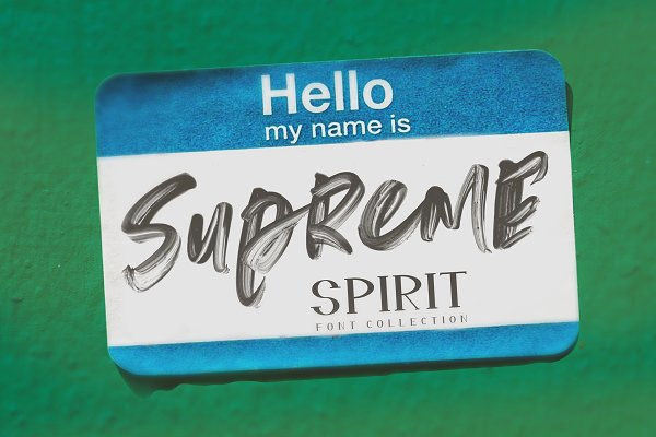 Supreme Spirit  Fonts + SVG