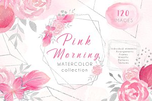 Watercolor Set Pink Morning.
