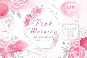 Watercolor Set Pink Morning.
