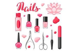 Set of manicure tools.