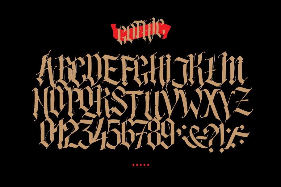 Gothic alphabet in vector!