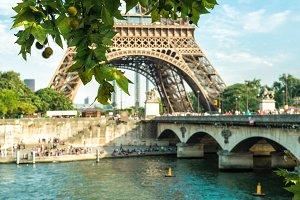 Seine river, Eiffel tower in Paris