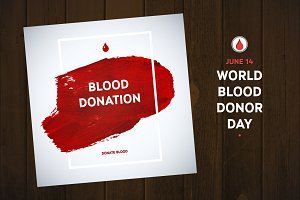 Blood donation 12 posters