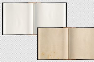 Open book paper pages isolated PNG