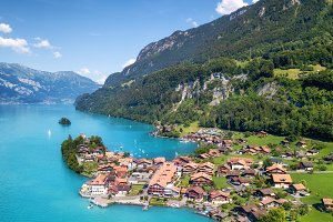 Aerial view in Switzerland
