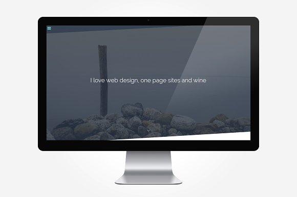 Pure - One Page Personal Portfolio