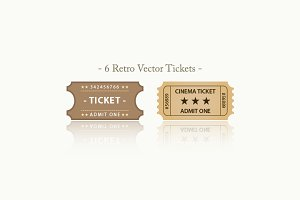 Retro Vector Tickets