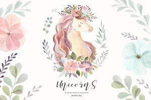 Unicorns & Flowers