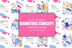Isometric Concept Flat Design