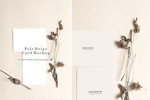 Pale Beige Card Mockup 5x7 Ratio
