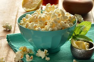 popcorn with butter and salt