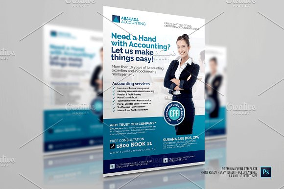 Accounting firm flyer flyer templates creative market fandeluxe Images
