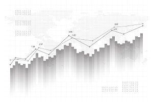 Graph chart data background. Finance