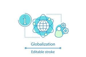 Globalization concept icon