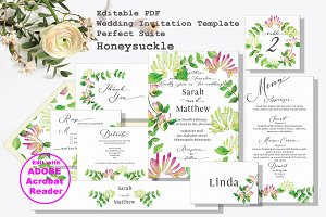 Honeysuckle Wedding Invitation Suite