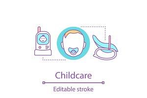 Childcare concept icon