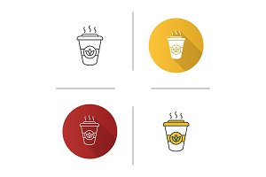 Tea to go icon
