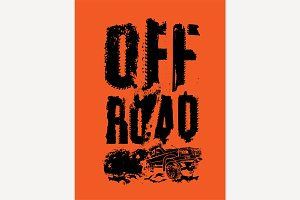 Off-Road Dust Lettering
