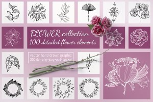 HAND DRAWN FLORAL COLLECTION Vol.4