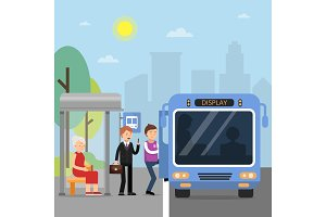 Public autobus station with