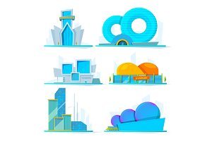 Fantastic buildings of future