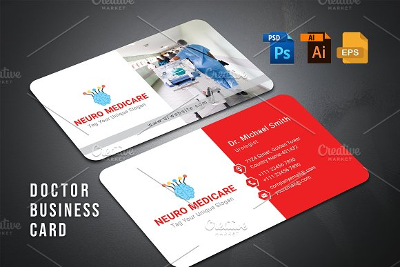 Doctor business card business card templates creative market colourmoves