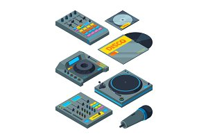DJ isometric tools. Various