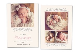 Birth Announcement Template CB092