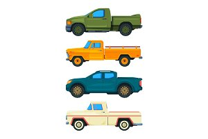 Pickup truck. Vector transport