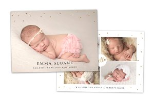 Birth Announcement Template CB098
