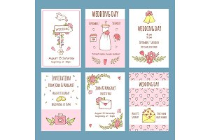 Wedding day invitations. Various