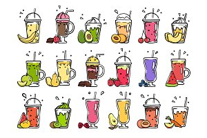 Smoothie hand drawn. Pictures of