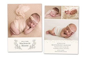 Birth Announcement Template CB099