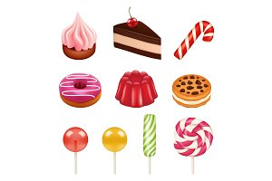 Sweets and candy pictures. Objects