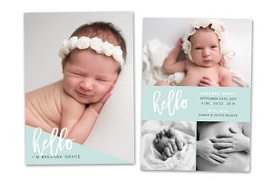 Birth Announcement Template CB107